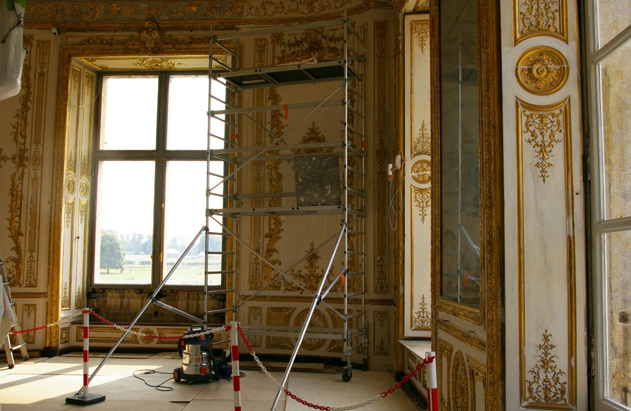 Travaux de rénovation au château.